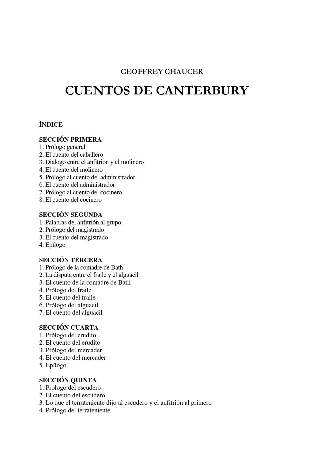 Cuentos de Canterbury by stephanie - issuu