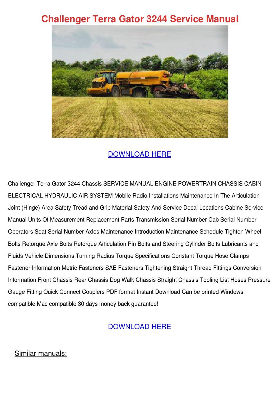Challenger Terra Gator 3244 Service Manual by EmilyDenning - issuu