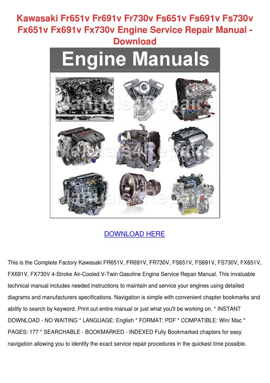 Fr730v Kawasaki Manual on