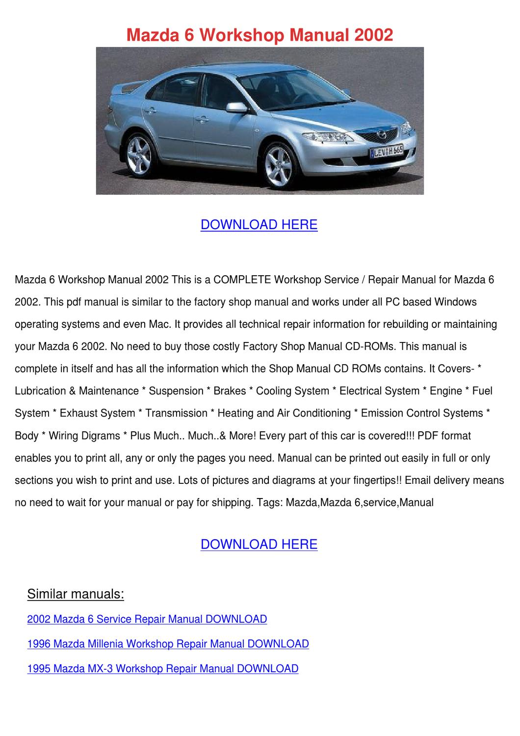 download mazda 6 repair manual 2003 2015 service and maintenance Array -  mazda 6 workshop manual 2002 by bethanybarger issuu rh issuu ...