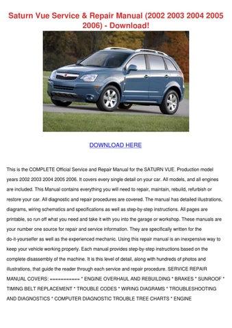 saturn vue service repair manual 2002 2003 20 by lynnemarion issuu 2006 saturn vue owner's manual free 2006 saturn vue owner's manual