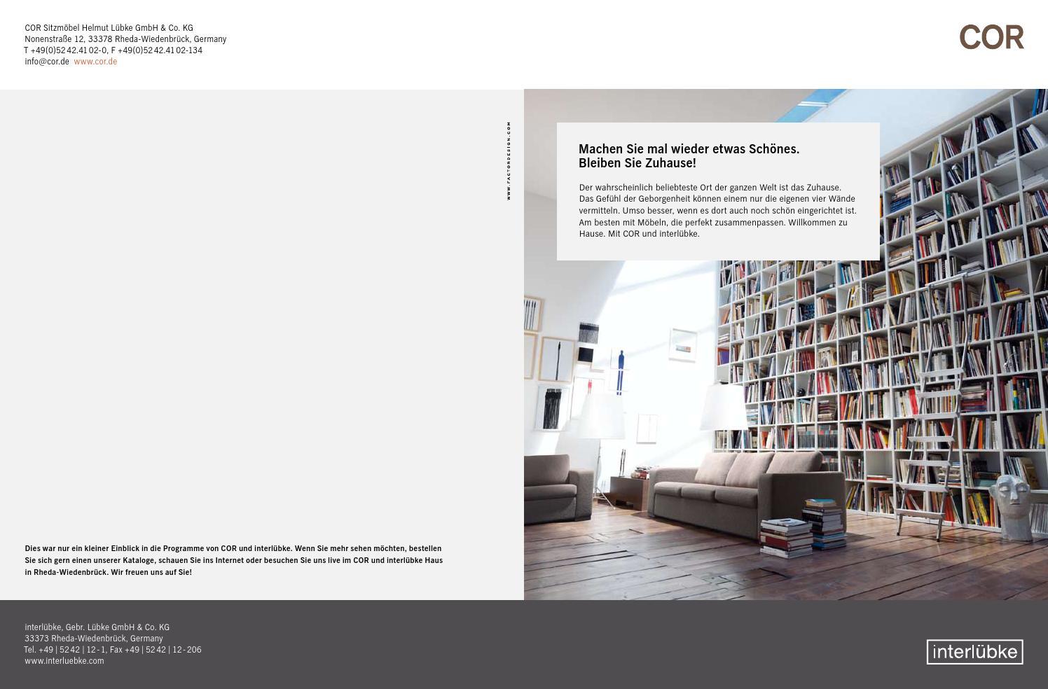 Cor Interlübke Folder 2010 By Dostal Innenarchitektur Issuu