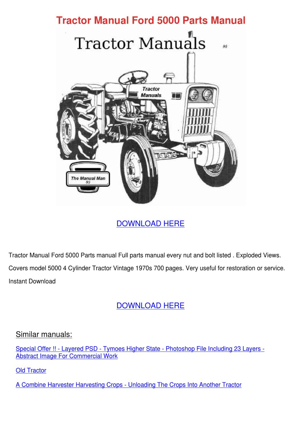 30 Ford 5000 Tractor Parts Diagram Manual Guide