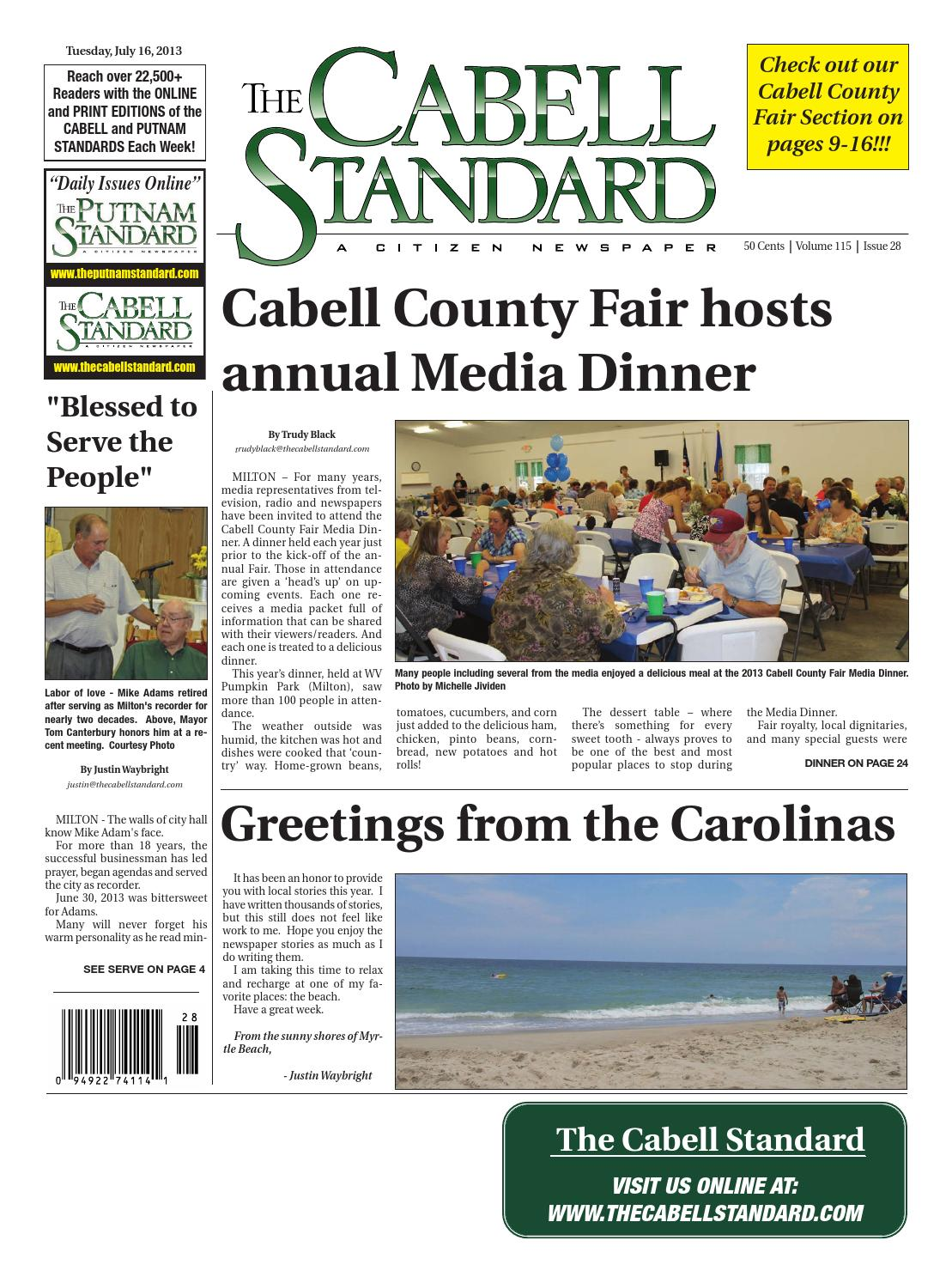 The Cabell Standard, July 16 by PC Newspapers - issuu