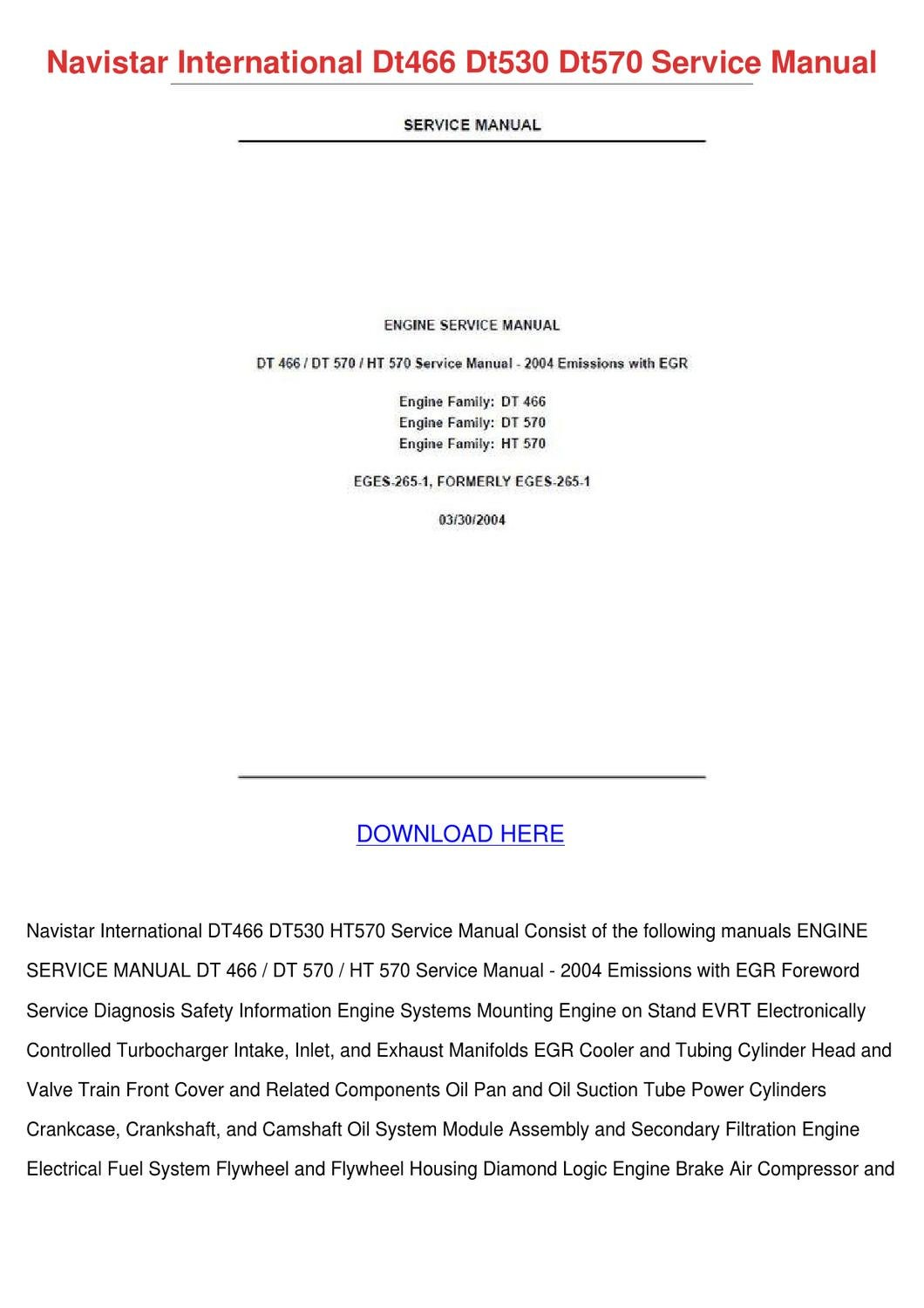 International Dt466 Service Manual Download Navistar Ht 570 Engine Diagram