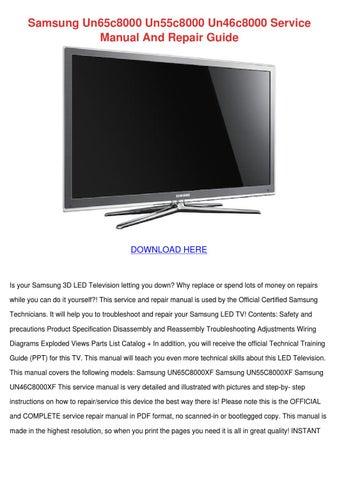 samsung un65c8000 un55c8000 un46c8000 service by lashondakirkpatrick rh issuu com samsung led tv user manual series 5 pdf samsung led tv user manual series 6 pdf