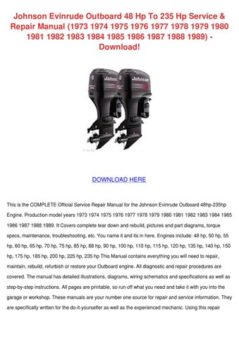 Johnson evinrude outboard 48 hp to 235 hp ser by gertrudefinn issuu johnson evinrude outboard 48 hp to 235 hp service repair manual 1973 1974 1975 1976 1977 1978 1979 1980 1981 1982 1983 1984 1985 1986 1987 1988 1989 publicscrutiny Choice Image