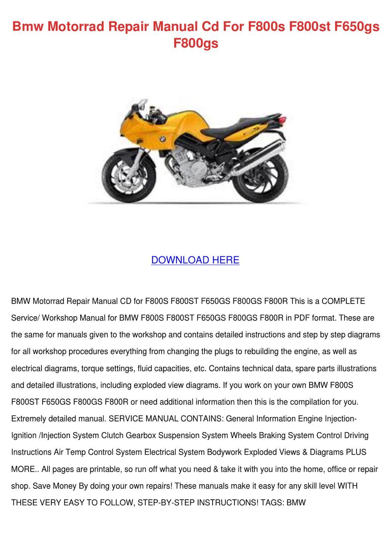 Bmw F800st Wiring Diagram - All Diagram Schematics on