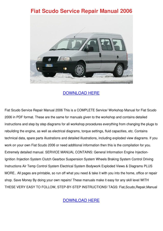 Fiat Scudo Service Repair Manual 2006 By Forrestegan Issuu Ulysse Wiring Diagrams