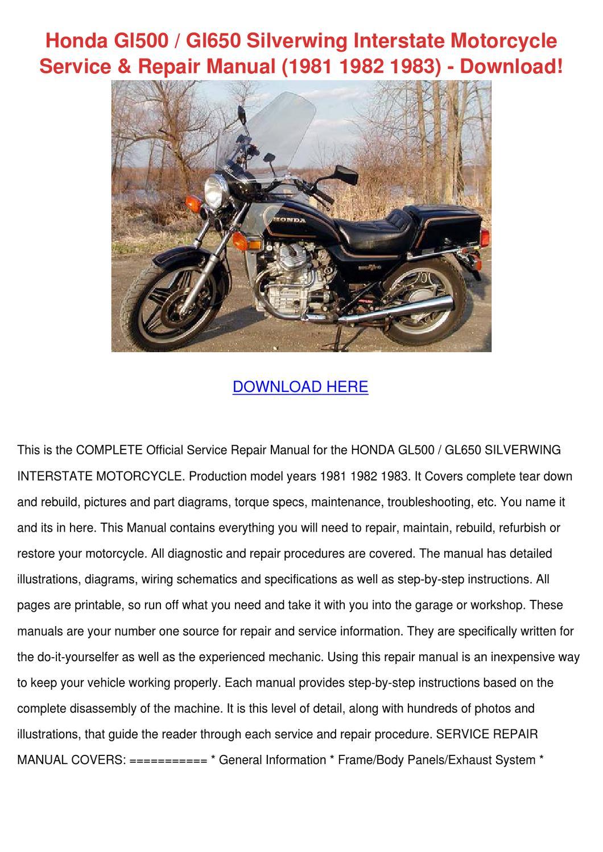 Honda Gl500 Gl650 Silverwing Interstate Motor By Forrestegan