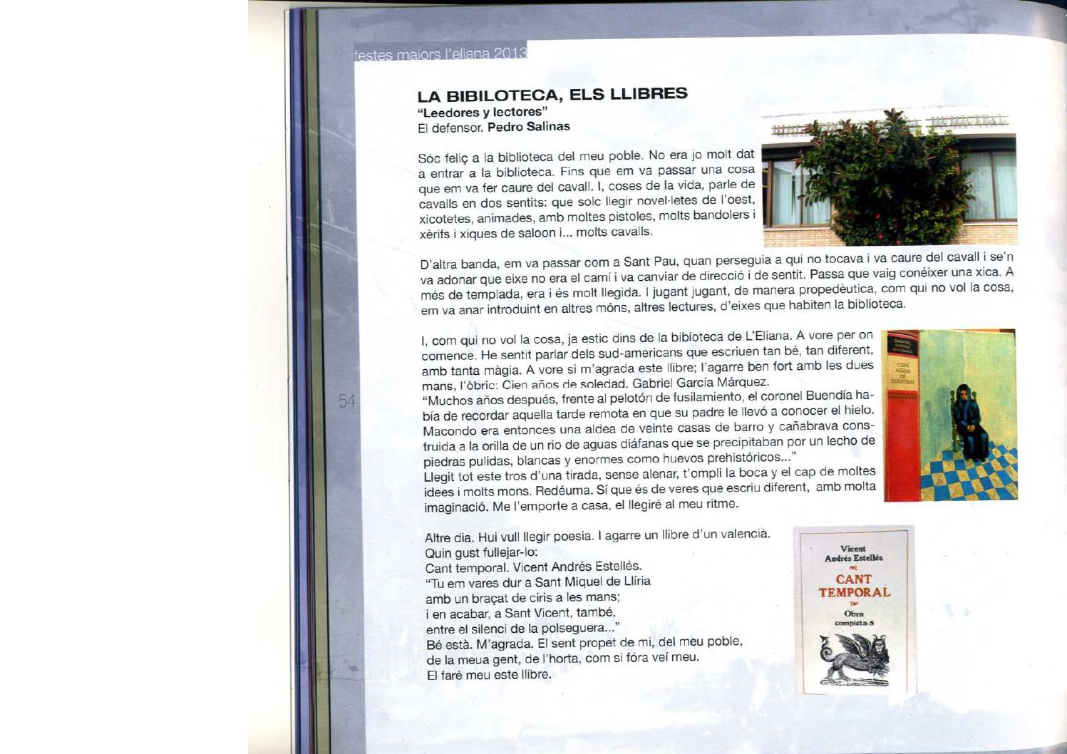 La biblioteca els llibres by biblioteca l 39 eliana issuu - Biblioteca l eliana ...