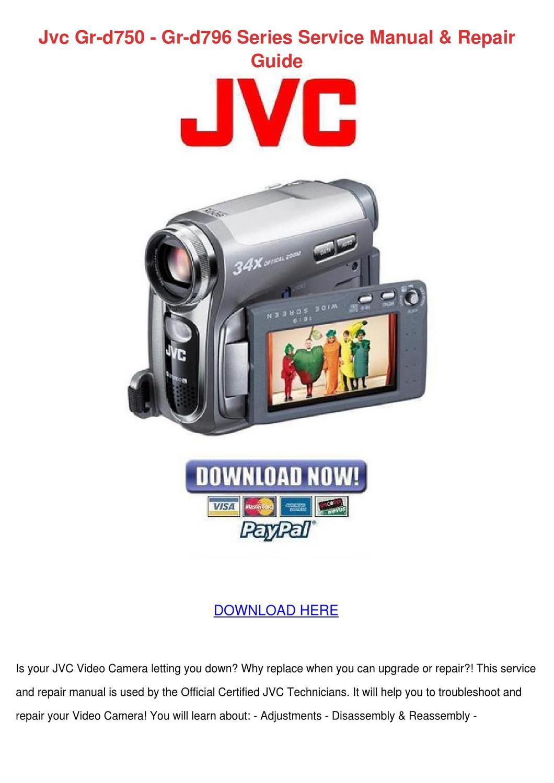Jvc Gr D750 Gr D796 Series Service Manual Rep By