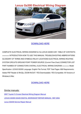 2001 lexus gs300 electrical wiring diagram 2001 lexus gs300 electrical wiring diagram by forrestegan issuu on 2001 lexus gs300 electrical wiring diagram
