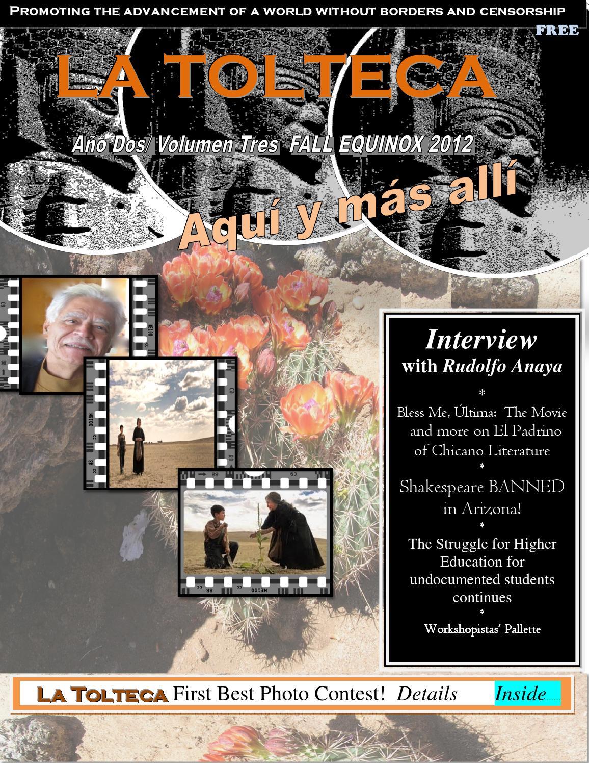Ao 2vol 1 La Tolteca Autumn Equinox 2012 Issue By Ana Castillo