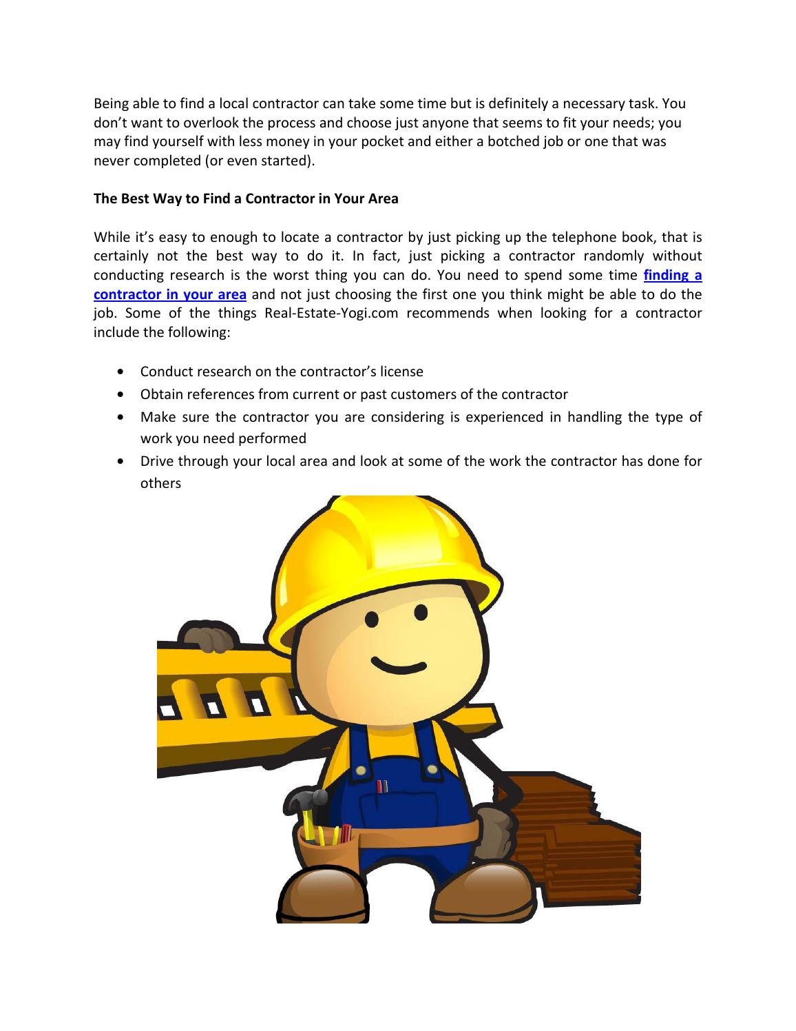 Find A Contractor >> How To Find A Good Contractor Home Improvement By Real