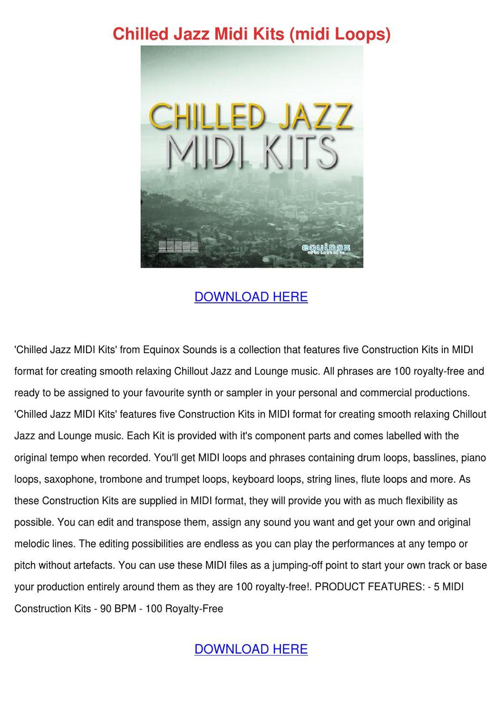 Chilled Jazz Midi Kits Midi Loops
