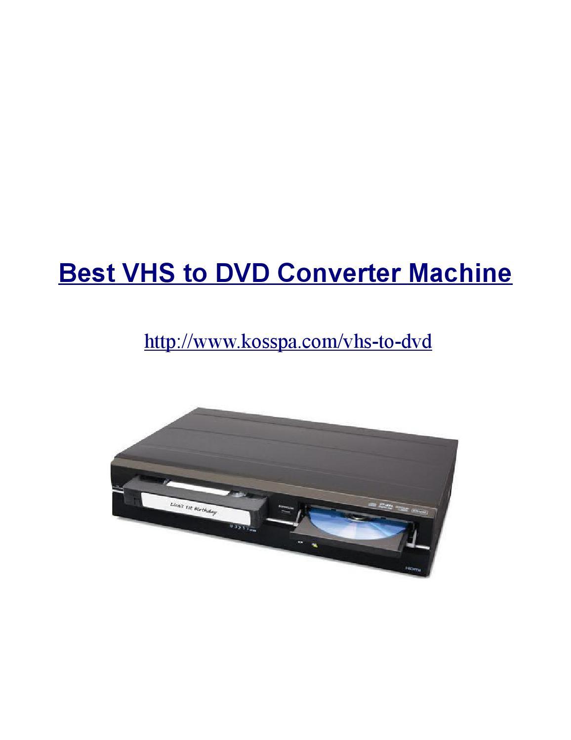 Vhs to dvd converter machine by alex jelic