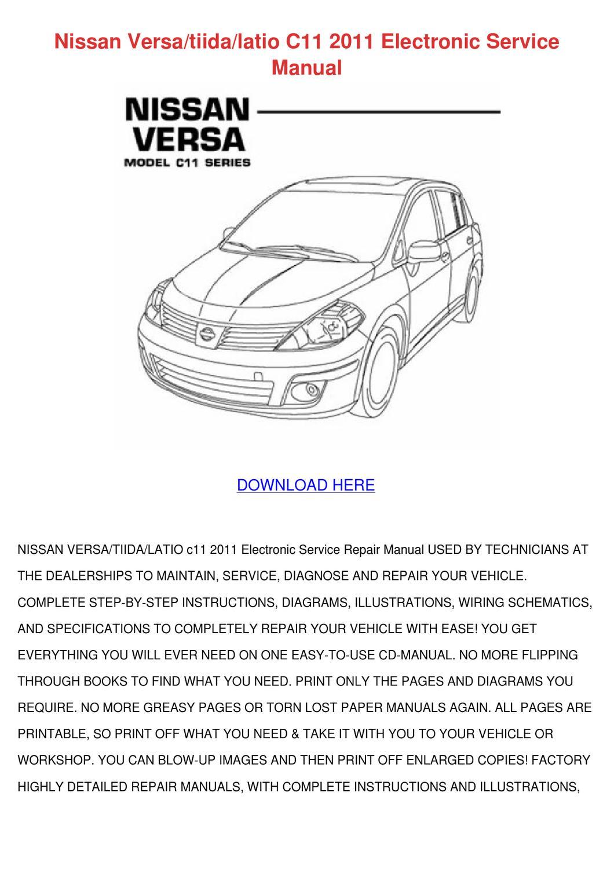 Nissan Versatiidalatio C11 2011 Electronic Se By