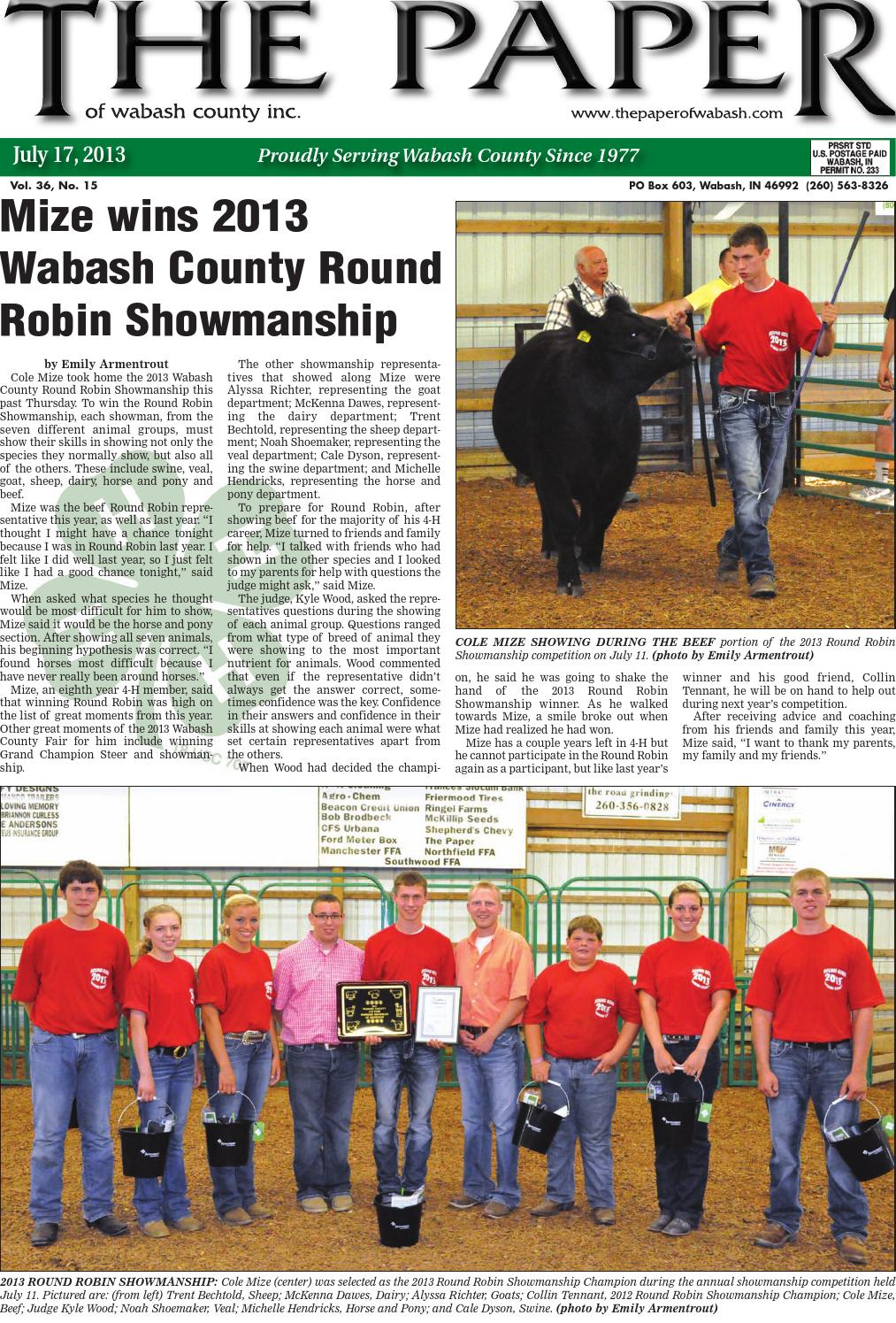 July17 by The Paper of Wabash County - issuu