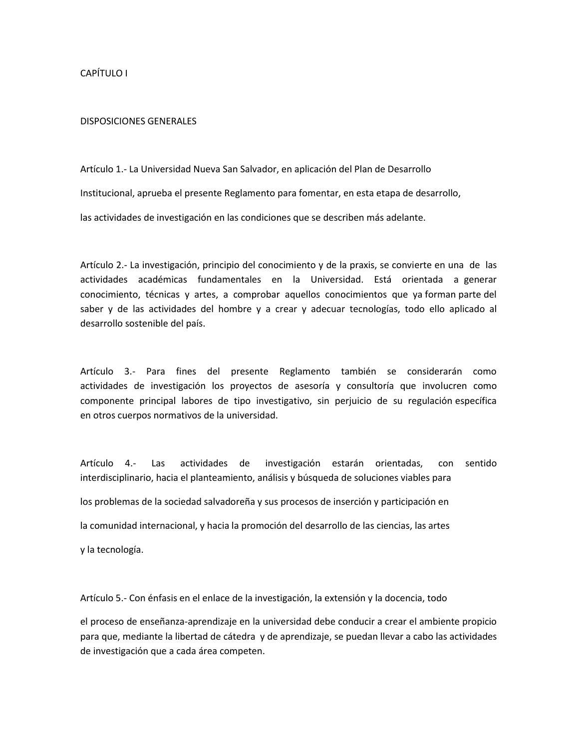Reglamento de investigación by E-PAPER UNIVERSIDAD NUEVA SAN ...