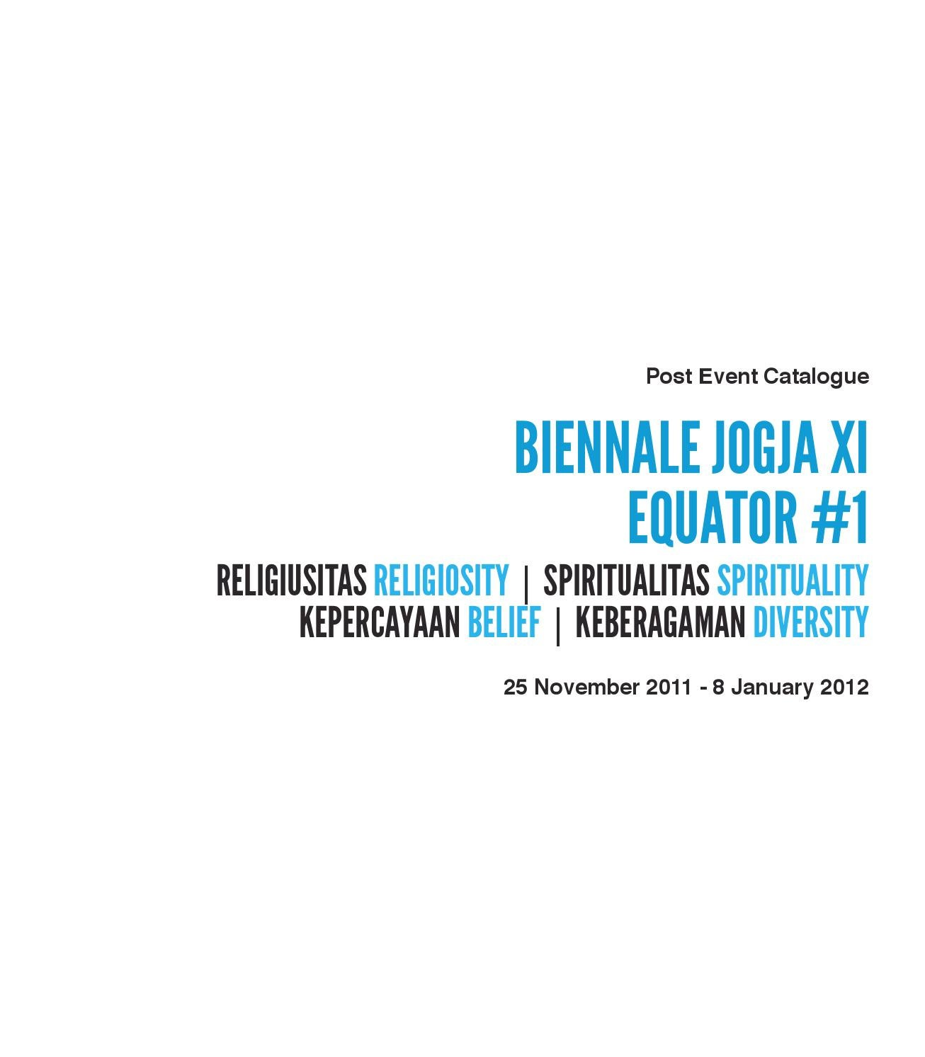 Post Event Catalogue Parallel Events Biennale Jogja XI By
