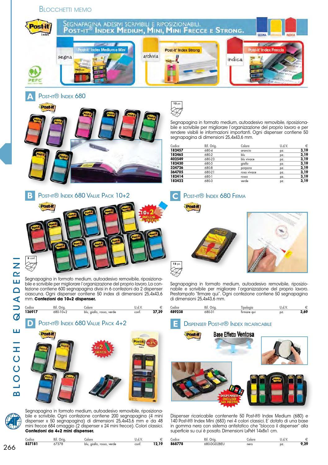 Post-It 680-DGD2BEU Dispenser Index Ricaricabile