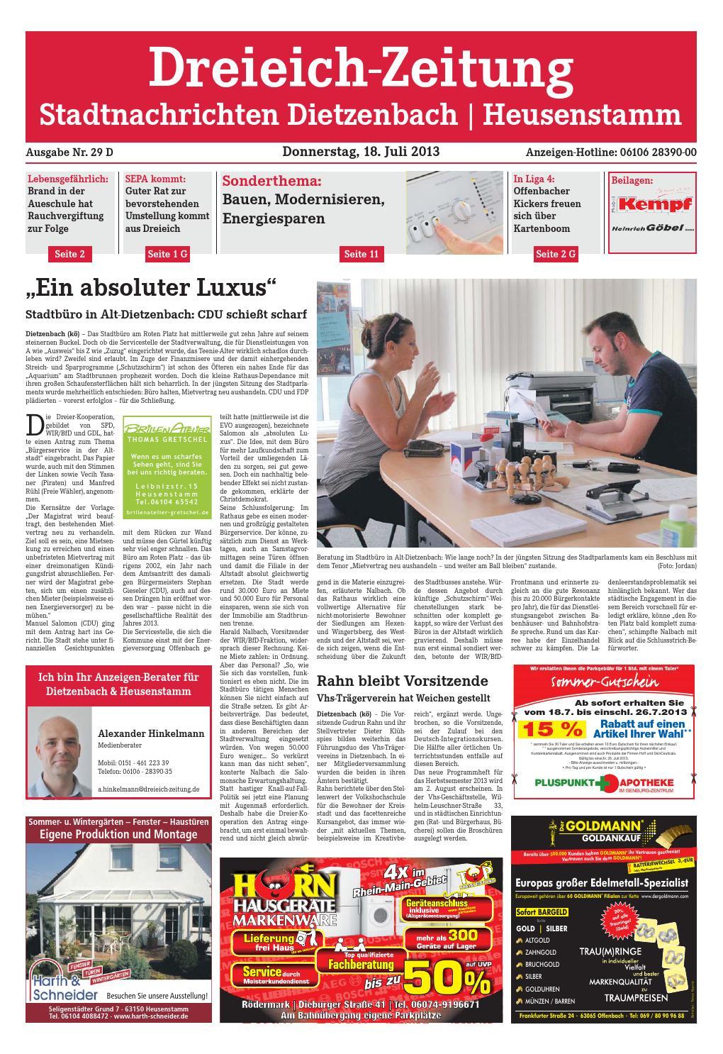 Dz Online 029 13 D By Dreieich Zeitung Offenbach Journal Issuu