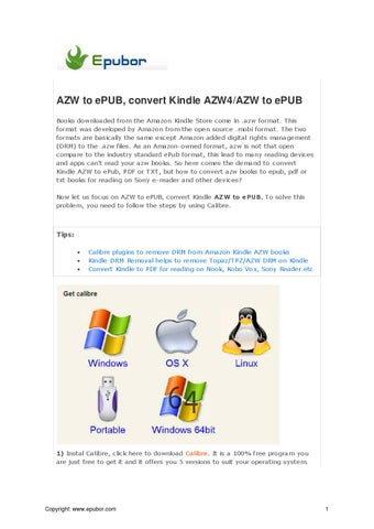 AZW to ePUB, convert Kindle AZW4/AZW to ePUB by Jarrey Zhang