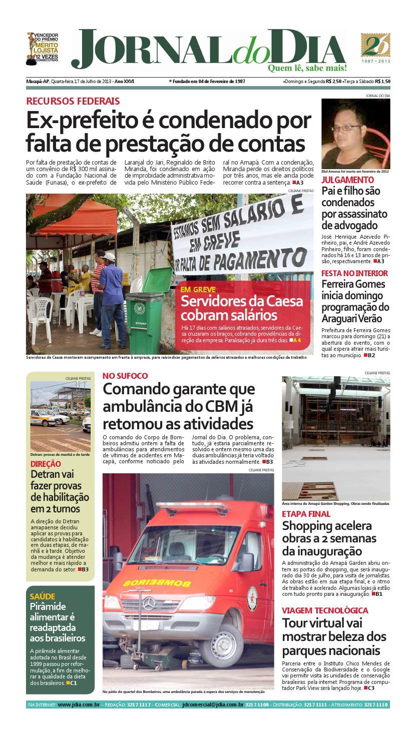 40ab860995 Jornaldodia17072013 by Jornal Do Dia - issuu
