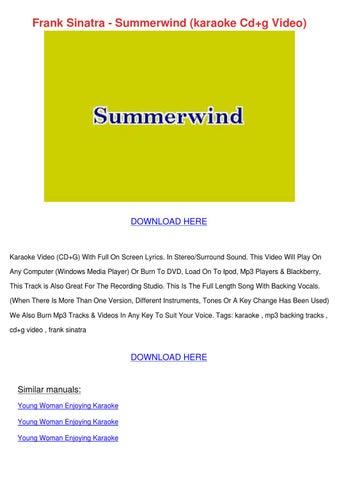 Summer Wind (w/lyrics) ~ Mr. Frank Sinatra - YouTube