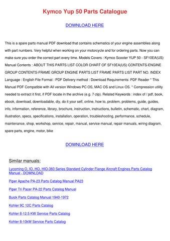 kymco yup 50 service repair manual download