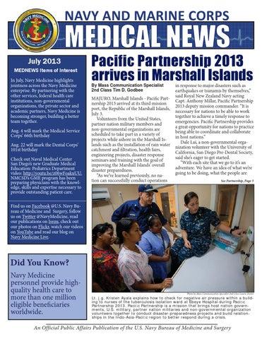 Navy Marine Corps Medical News July 2013 By Navy Medicine Issuu