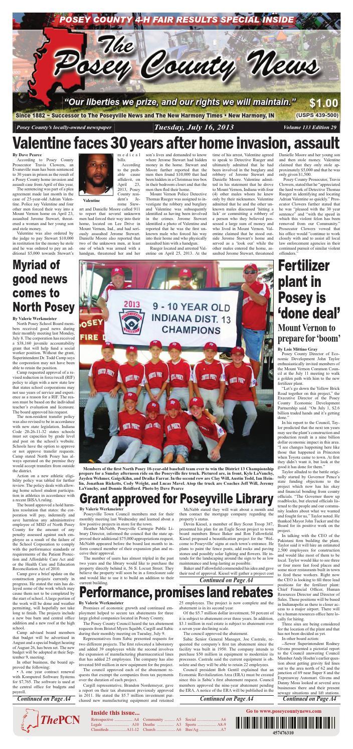 july 16 2013 the posey county news by the posey county news issuu rh issuu com