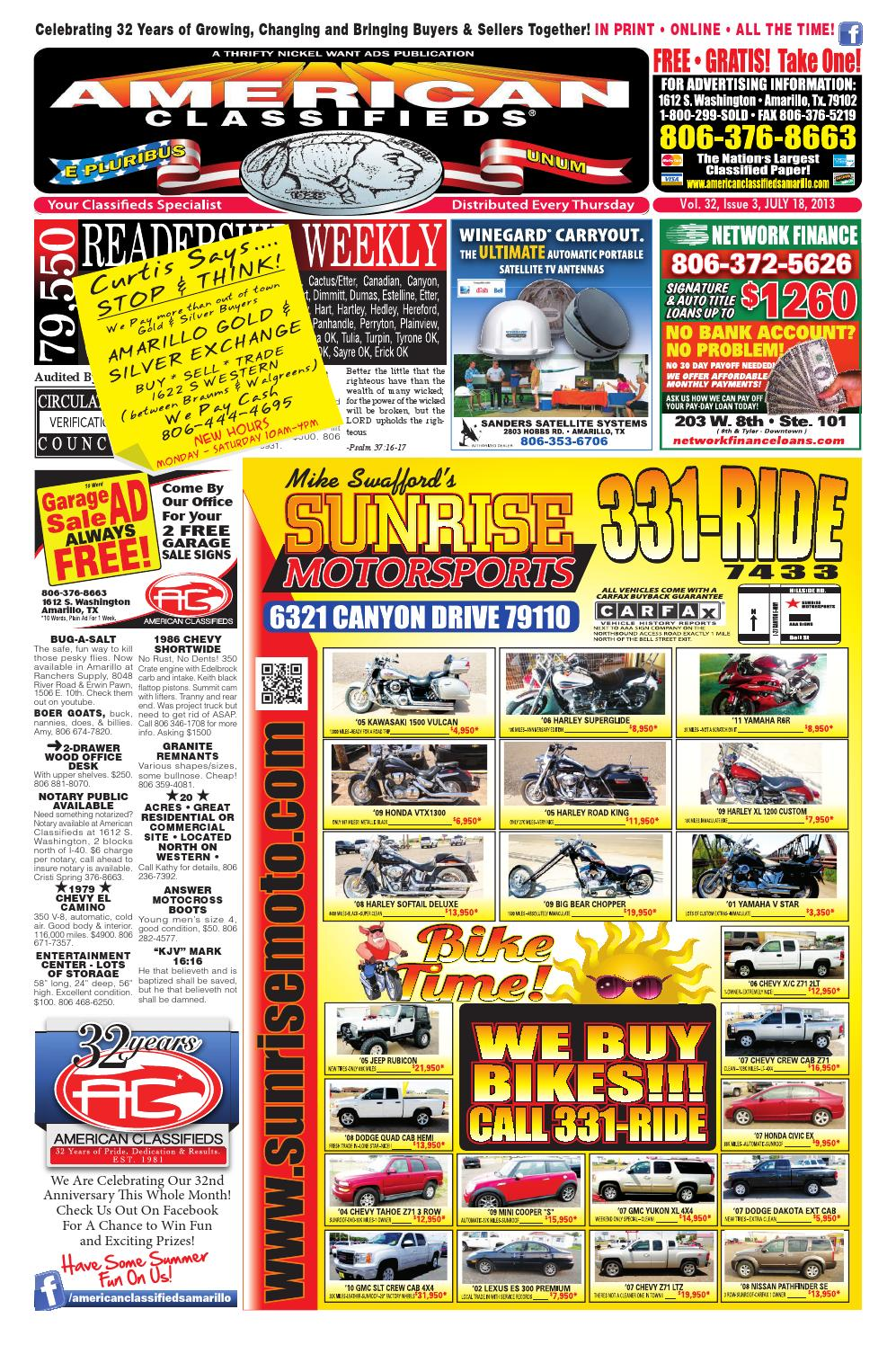 American classifieds amarillo tx july 18 2013 by american classifieds issuu