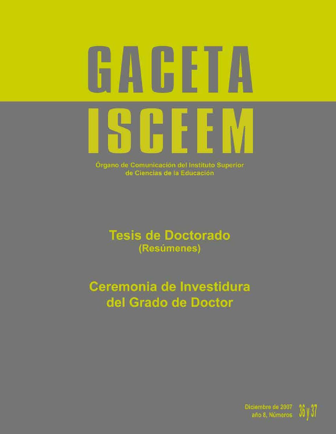 Gaceta Nos. 36 y 37 by isceem Estado de México - issuu