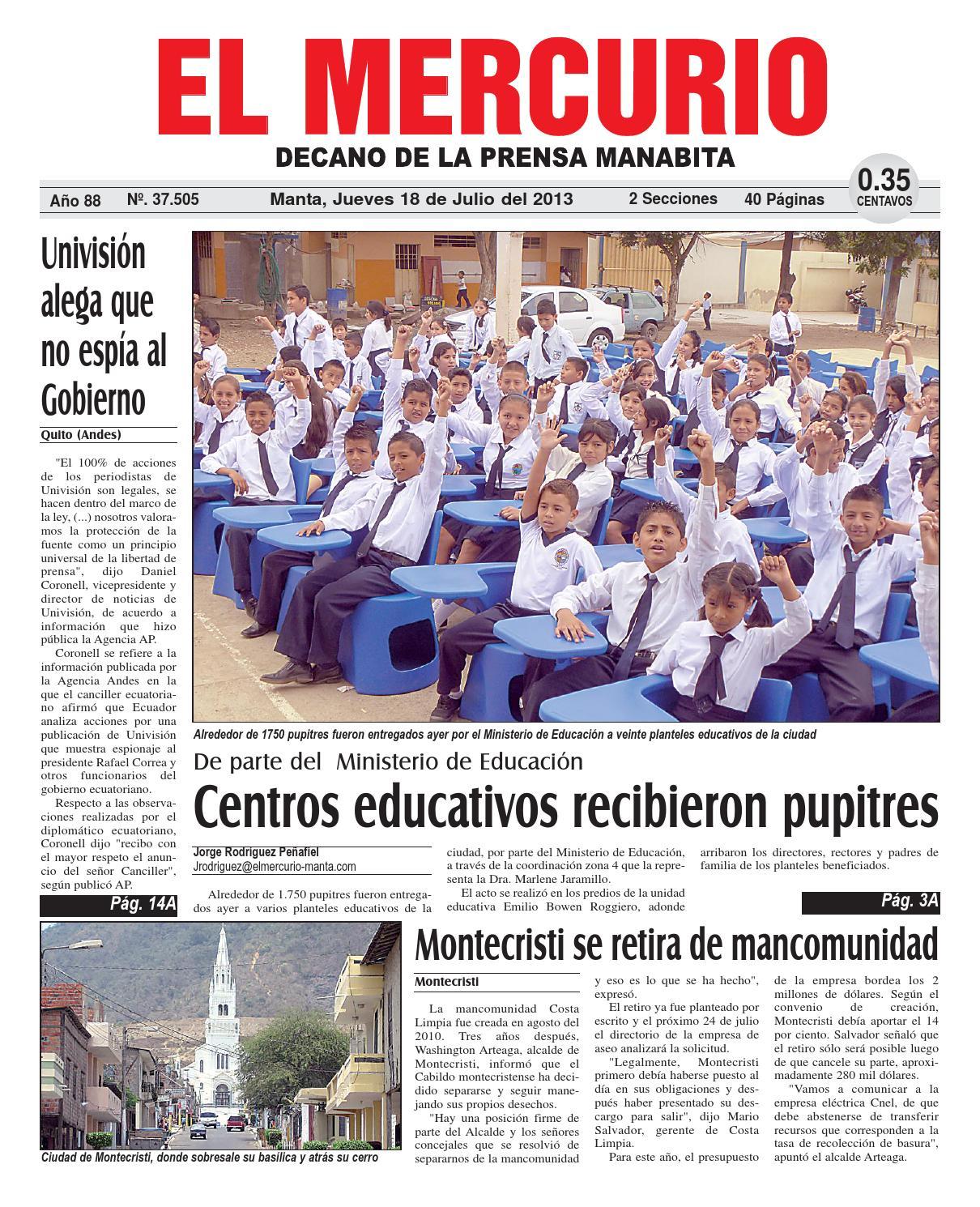 Mercurio jueves 18 de julio de 2013 by Diario El mercurio - issuu
