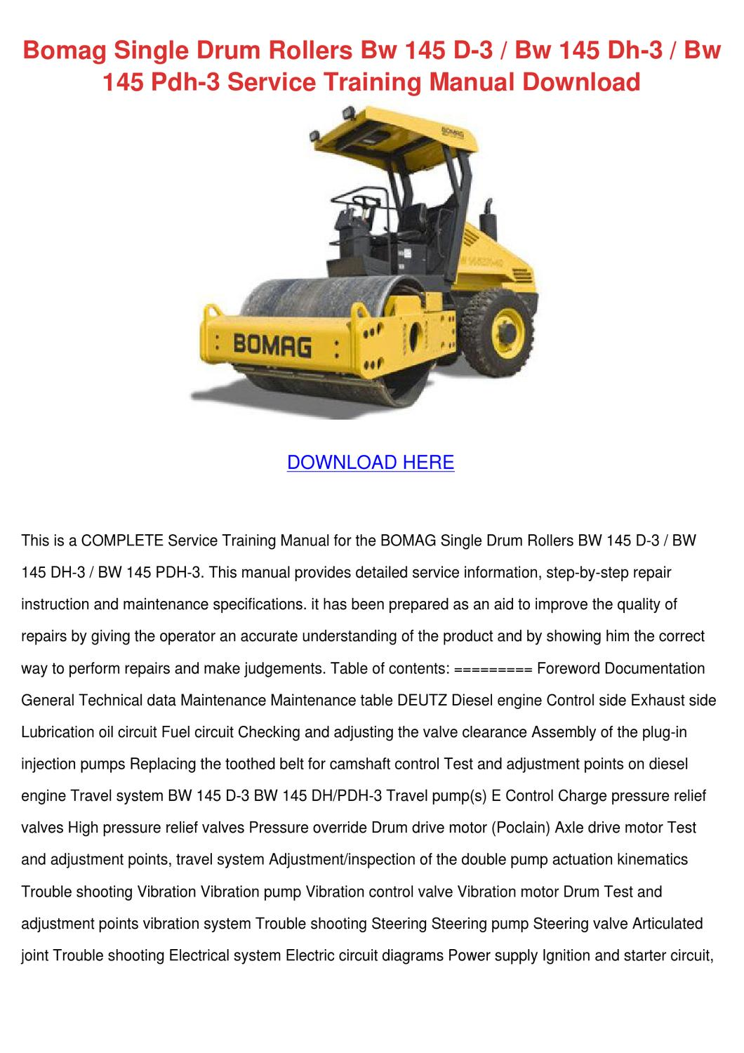 Bomag Single Drum Rollers Bw 145 D 3 Bw 145 D by MiriamMcclendon ...