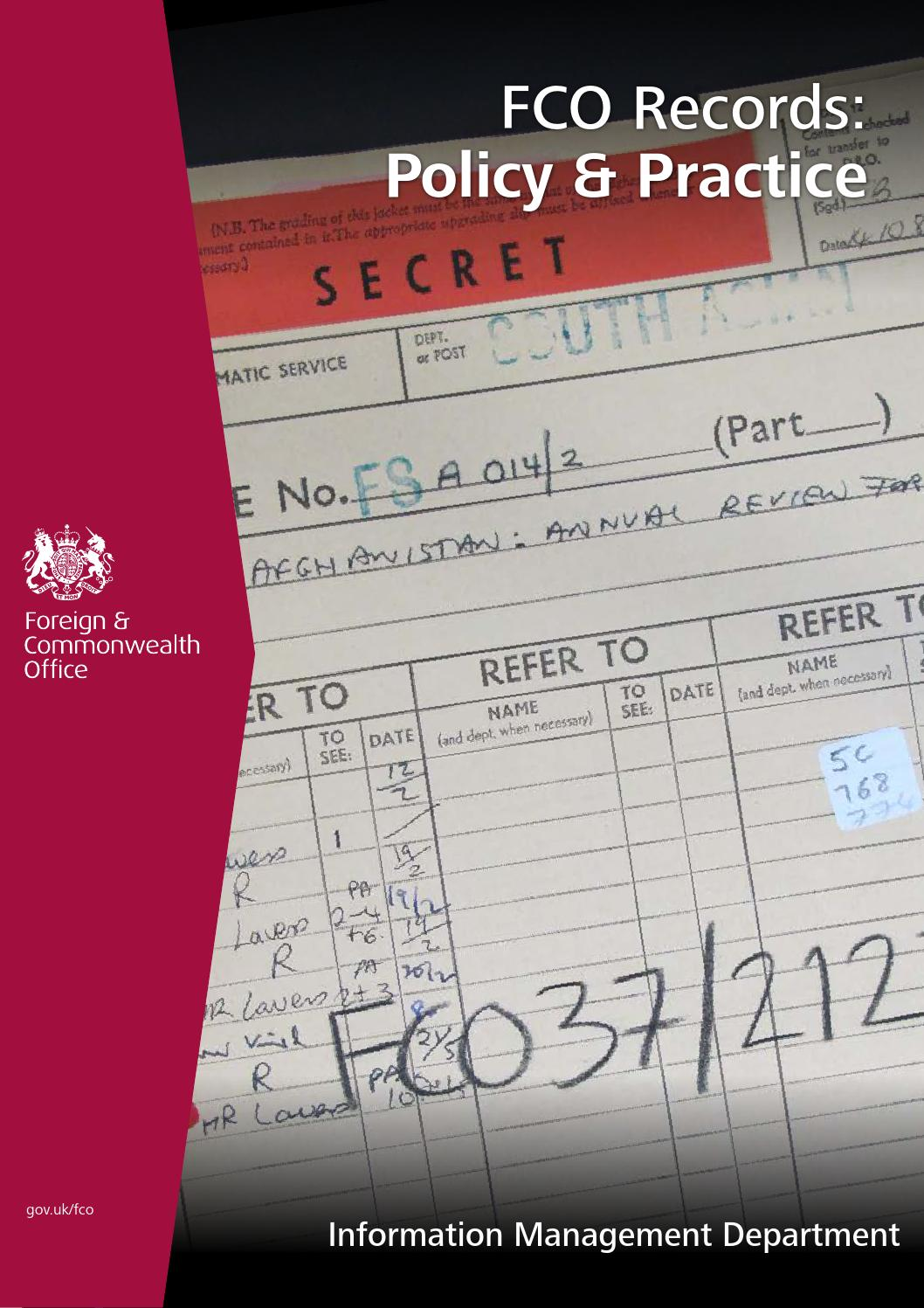 Fco Records Policy Practice By Fco Historians Issuu