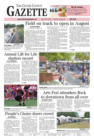 b2e8930e5 7 18 13 centre county gazette by Centre County Gazette - issuu