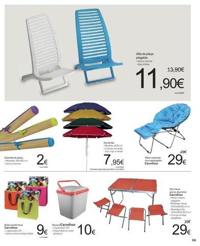 Cat logo y ofertas carrefour v lido 29 07 by broshuri issuu - Mesa plegable maleta carrefour ...
