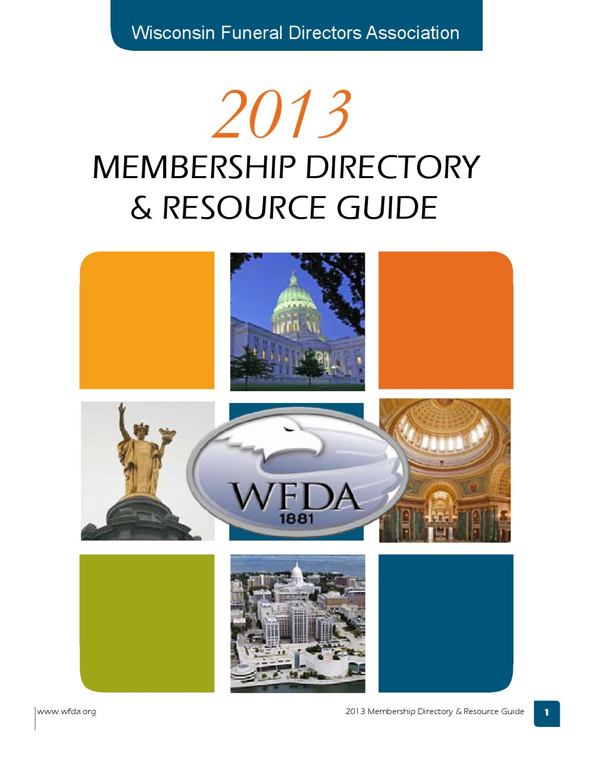 Wfda 2013 Directory 7 1 13 Issuu By Wisconsin Funeral