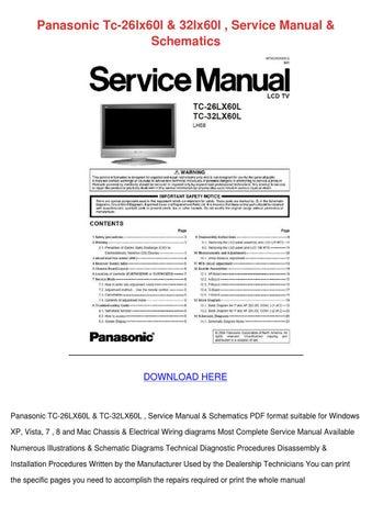 Panasonic Tc 26lx60l 32lx60l Service Manual S by JuliusFolse - issuu