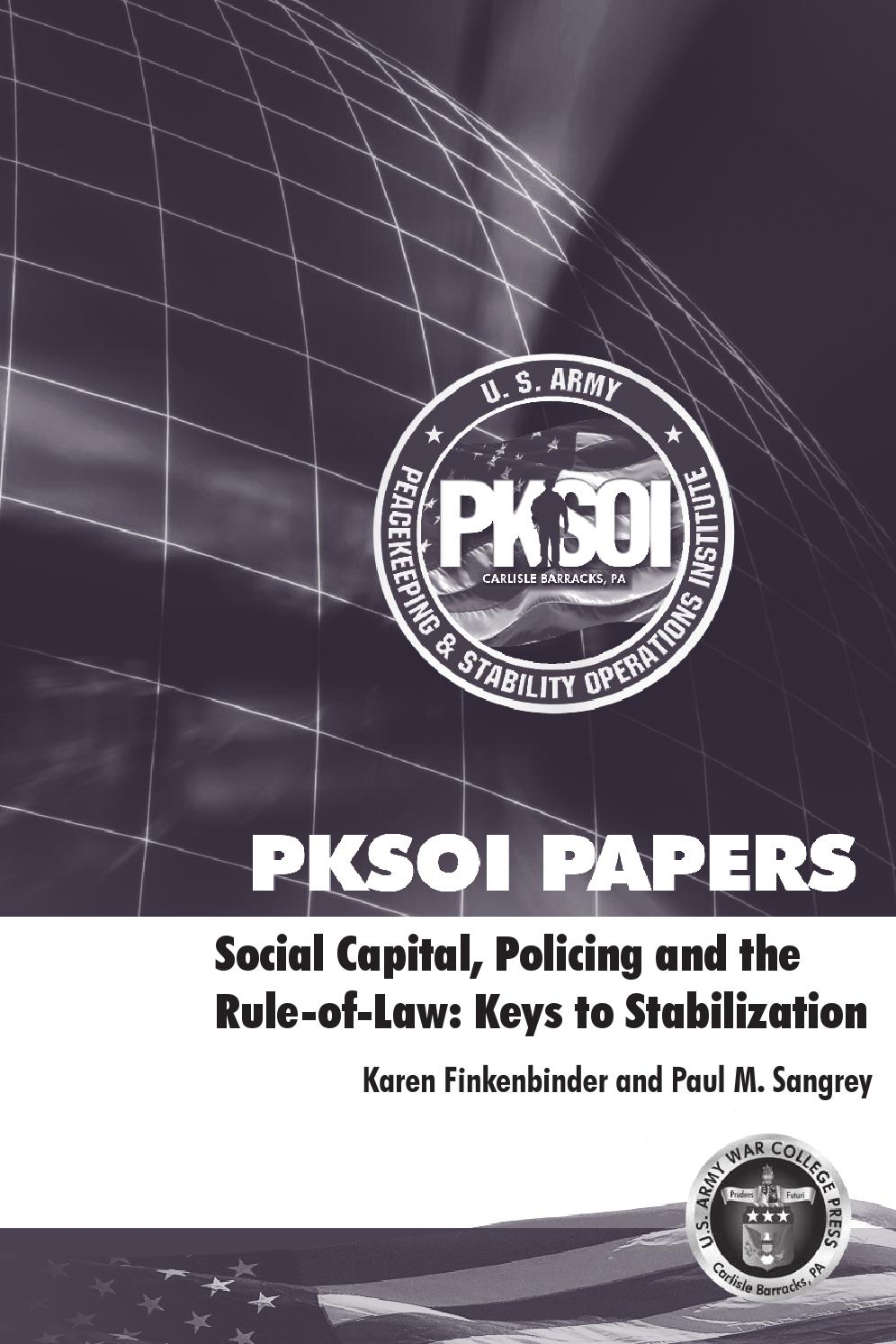 Social Capital Policing And The Rule Of Law Keys To Stabilization 208 Three Phase Power Wiring Http Wwwglobalsecurityorg Military By Pksoi Issuu