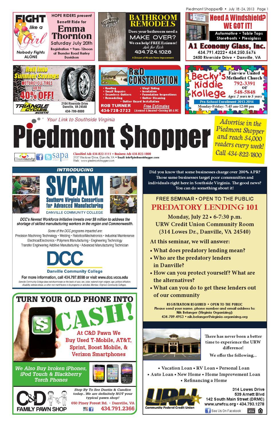 Piedmont Shopper 7 18 13 by piedmont shopper - issuu