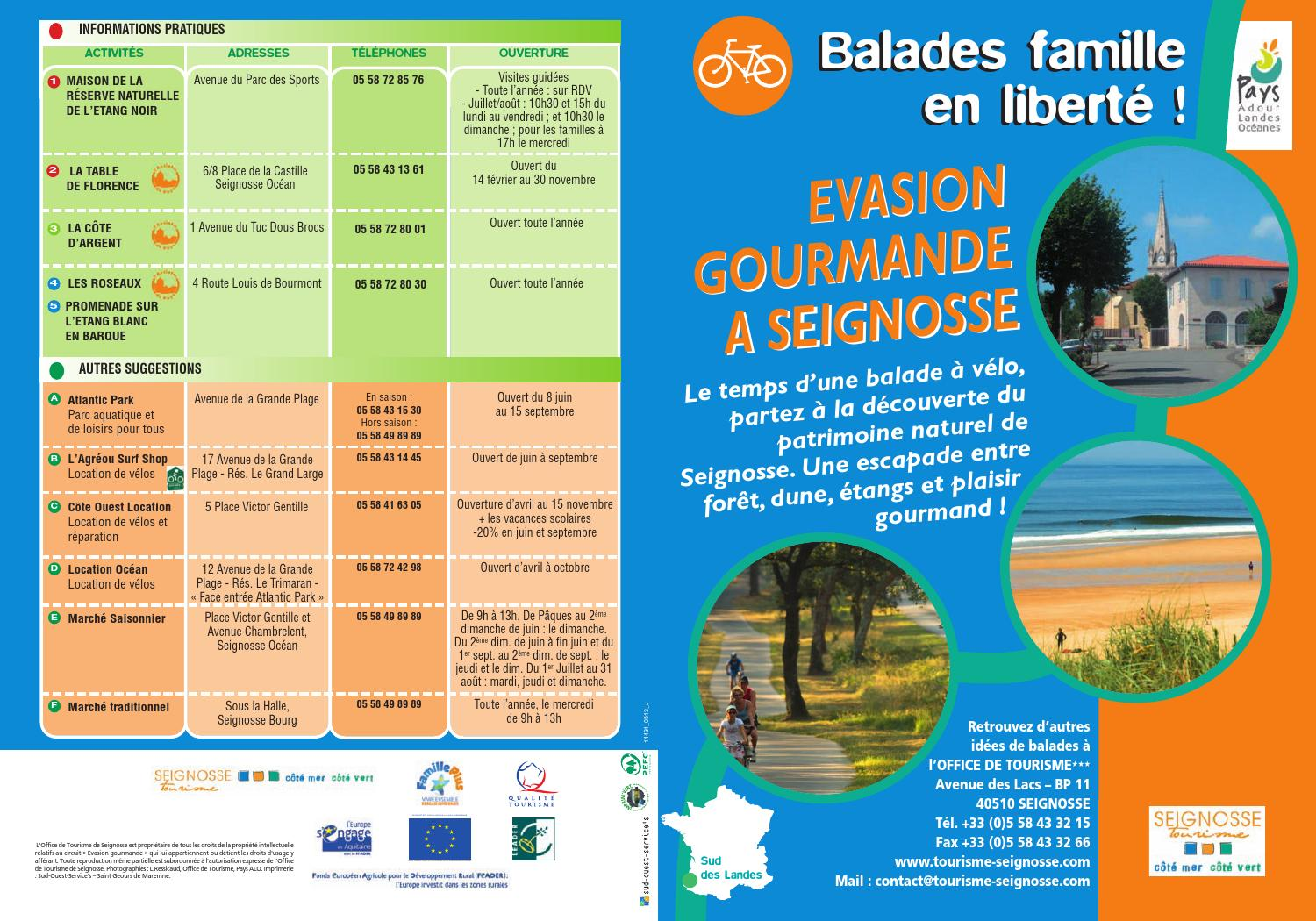 Balade famille evasion gourmande seignosse 2013 by office de tourisme de capbreton issuu - Office de tourisme cap breton ...