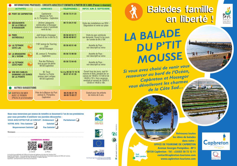 Balade famille le petit mousse capbreton 2013 by office de tourisme de capbreton issuu - Office de tourisme cap breton ...