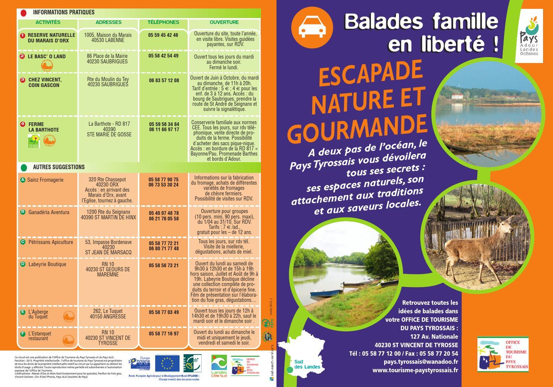 Balade famille escapade nature et gourmande pays tyrossais 2013 by office de tourisme de - Office de tourisme cap breton ...