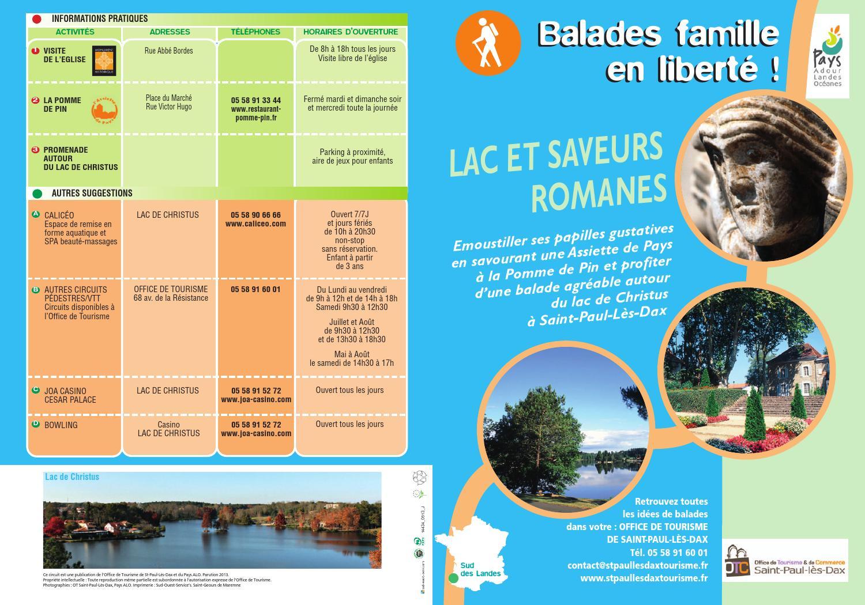 Balade famille lacs et saveurs romanes st paul l s dax 2013 by office de tourisme de capbreton - Office tourisme cap breton ...