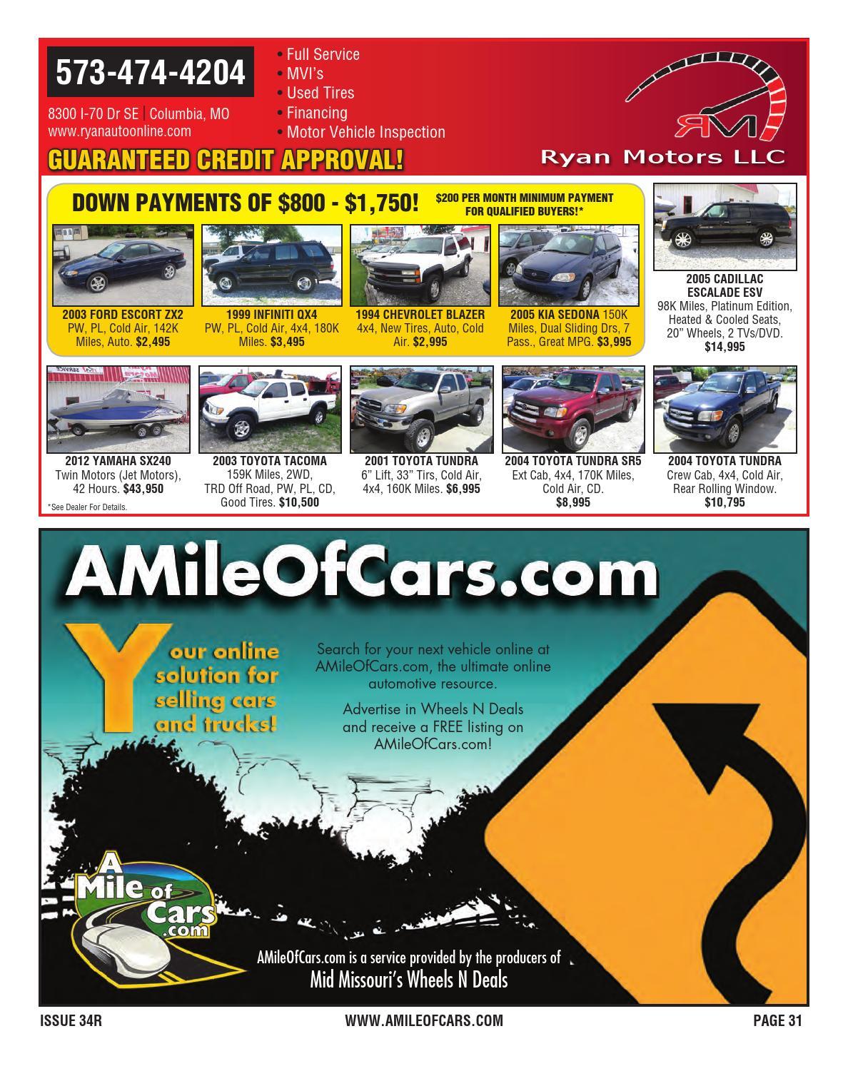 Wheels N Deals Issue 34r By Maximum Media Inc Issuu 2005 Kia Sedona Window Motor