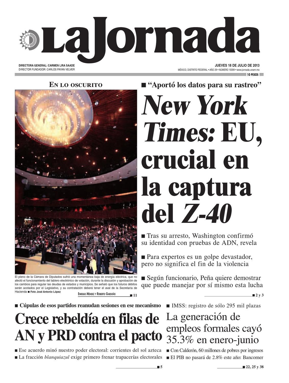 La Jornada, 07/18/2013 by La Jornada: DEMOS Desarrollo de Medios SA ...